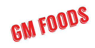 Gm Foods rubber stamp Royalty Free Stock Photos