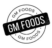 Gm Foods rubber stamp Stock Image