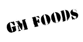 Gm Foods rubber stamp Royalty Free Stock Images