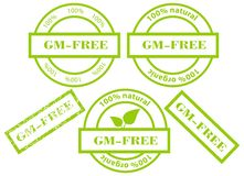 GM-Free green stamps Stock Image