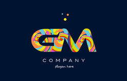 Gm g m colorful alphabet letter logo icon template vector Stock Photography