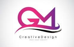 GM G M Letter Logo Design Vecteur moderne L de lettres d'icône créative Illustration de Vecteur