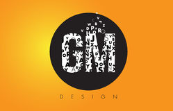 GM G M Logo Made of Small Letters with Black Circle and Yellow B Royalty Free Stock Photos