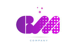 Gm g m pink dots letter logo alphabet icon Stock Images