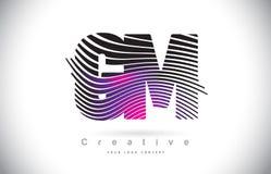 GM G M Zebra Texture Letter Logo Design With Creative Lines et Photo libre de droits