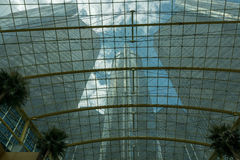 GM Headquarter in Detroit. View of GM Tower from Wintergarden Royalty Free Stock Photo