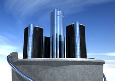 GM Renaissance Center In A Bucket Stock Image