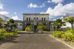 Gmach sądu, Palais De Sprawiedliwość Martinique, fort-de-france Zdjęcie Stock