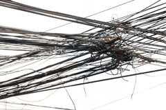 Gmatwanina drutu linia w Tajlandia Fotografia Stock