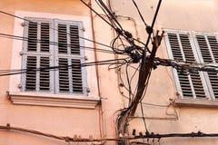 Gmatwanina druty na ulicie Zdjęcie Stock