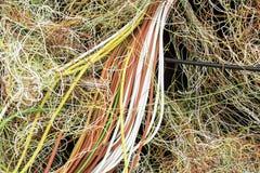 Gmatwanina elektryczni kable Fotografia Stock