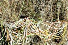 Gmatwanina elektryczni kable Obraz Royalty Free