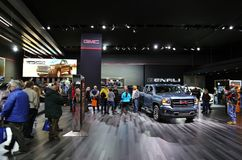 GMC at the auto show. GMC is displayed at the North American International Auto Show in Detroit Michigan USA Cobo convention center royalty free stock image