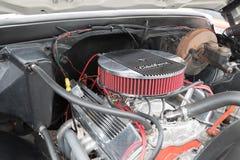 GMC C15 LB pickup silnik 1970 na pokazie Fotografia Stock