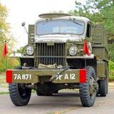 GMC CCKW 353 Flatbed Leger van de vrachtwagenv.s. Royalty-vrije Stock Foto's