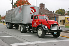 1951 GMC Contract Freighters Truck & Trailer. Restored 1951 GMC Contract Freighters truck and trailer Royalty Free Stock Images