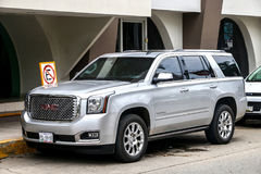 GMC Denali. ACAPULCO, MEXICO - MAY 30, 2017: Motor car GMC Denali in the city street Royalty Free Stock Photography