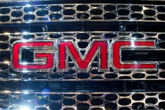 GMC emblem. Logo of the GM truck division,GMC Royalty Free Stock Photo