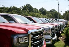 GMC Pick Up Trucks Royalty Free Stock Photos