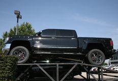 GMC Sierra. Brand new GMC Sierra Pick Up truck with life kit installed Royalty Free Stock Image