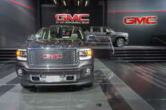 GMC trucks on display on display Stock Image