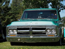 GMC vert classique reconstitué demi Ton Truck Image stock