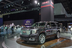 GMC Yukon car on display at the LA Auto Show. Stock Photos