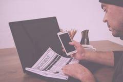Gmeranie dla nowego pracy lub zatrudnienia rocznika Retro filtra fotografia royalty free