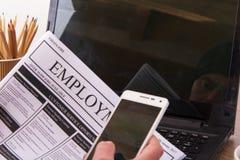 Gmeranie dla nowego zatrudnienia lub pracy obraz royalty free