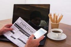 Gmeranie dla nowego zatrudnienia lub pracy obrazy stock