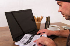 Gmeranie dla nowego zatrudnienia lub pracy zdjęcia stock