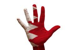 gömma i handflatan flaggan Bahrain Royaltyfri Foto