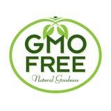 GMO自由自然善良商标象标志 库存图片