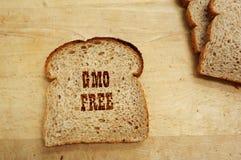 GMO面包文本 免版税图库摄影
