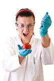 Gmo � laboratory work Stock Images