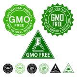 Значки уплотнений GMO свободные бесплатная иллюстрация