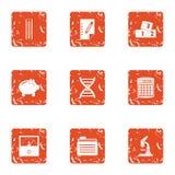 GMO animal icons set, grunge style. GMO animal icons set. Grunge set of 9 GMO animal vector icons for web isolated on white background Stock Illustration
