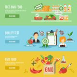 Gmo Banner Set Stock Photography