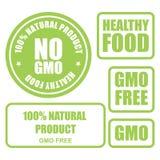 GMO bezpłatny i zdrowe kartki żywnościowa Zdjęcie Royalty Free