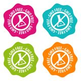 GMO free Badges. Eps10 Vector. Set of four different colours Royalty Free Illustration