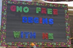 GMO Free Begins With Me Sign Royalty Free Stock Image