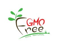 GMO free food, illustration for agriculture company or environment organization Stock Images