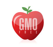 Gmo free food illustration design. Over a white background Royalty Free Stock Photography
