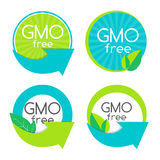 Gmo Free Label Set Vector Illustration. EPS10 Royalty Free Stock Image