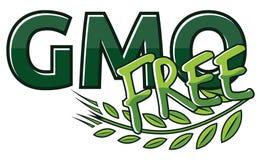 Gmo free label Stock Image
