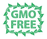 GMO free label Royalty Free Stock Photography