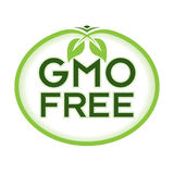 GMO Free Logo Icon Symbol. GMO Free Vector Illustration Graphic Oval Symbol Typographic. Fully editable vector illustration for packaging, print and web Stock Image