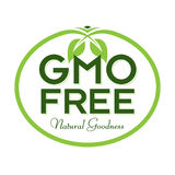 GMO Free Natural Goodness Logo Icon Symbol. GMO Free Natural Goodness Vector Illustration Graphic Oval Symbol Typographic. Fully editable vector illustration for Stock Image