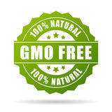 Gmo free natural product icon. Over white Royalty Free Stock Images