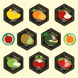GMO Free Non GMO and organic guarantee tag logo label emblem sti Royalty Free Stock Photography